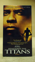 Disney Remember the Titans VHS Movie  * Plastic * -- Used