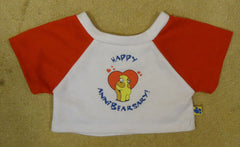 Build-A-Bear Happy AnniBearsary Shirt 03-010v * Fabric * -- Used