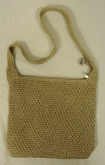 The Sak Original Purse Polypropylene Female Adult Shoulder Bag Beige Woven 69-616r -- New