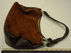 Argentinean Handcrafts Purse Leather Female Adult Baguette Rust/Brown Spotted/Solid 82-622t -- New