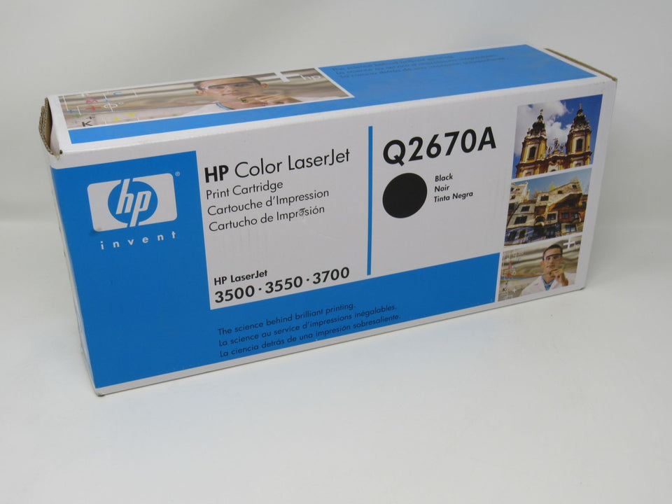 HP Q2670A Black 3500 3700  GENUINE Toner Cartridge  NEW