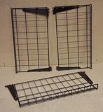 Heavy Duty Wire Racks 24in x 13in with Brackets Lot of 3 Black Steel -- Used