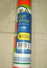 Jeanmarie Ribbon Stripe Christmas Wrapping Paper 32sqft -- New