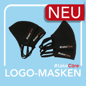 #takeCare Logo-Masken Mix