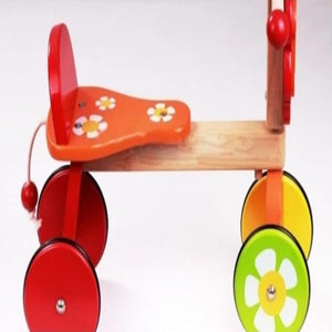 Baby wooden red ride on side view-modern line furniture