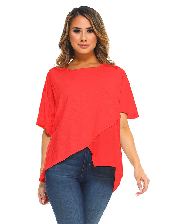 CS7115 Carol Top-Red