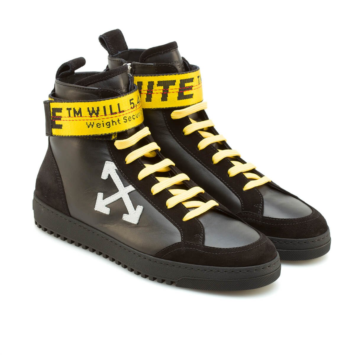 OFF-WHITE High-Top Sneakers Black