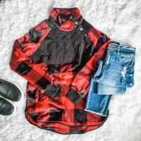 Snuggle Me Up Buffalo Plaid Sweater Curvy
