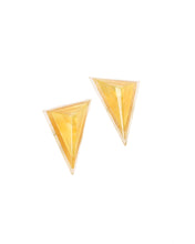 Load image into Gallery viewer, Gold Triangle Earrings