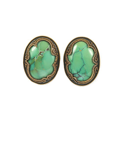 Granulated Turquoise Earrings