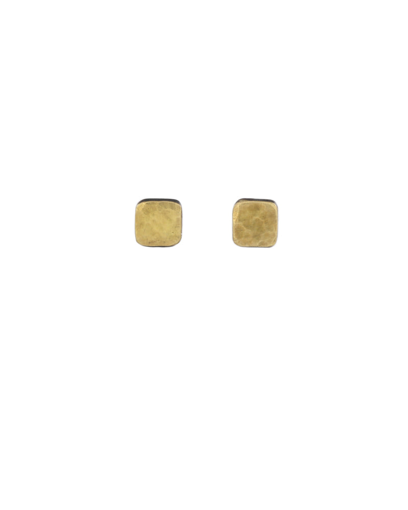 Tiny Cell Earrings 18k Yellow & Silver