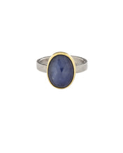 Load image into Gallery viewer, Oval Rose Cut Sapphire Ring