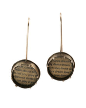 Load image into Gallery viewer, Ivory Polymer and Text Earrings