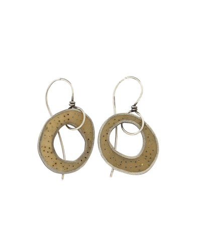 Ochre Resin Earrings