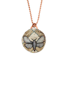 Moth of Grid Pendant