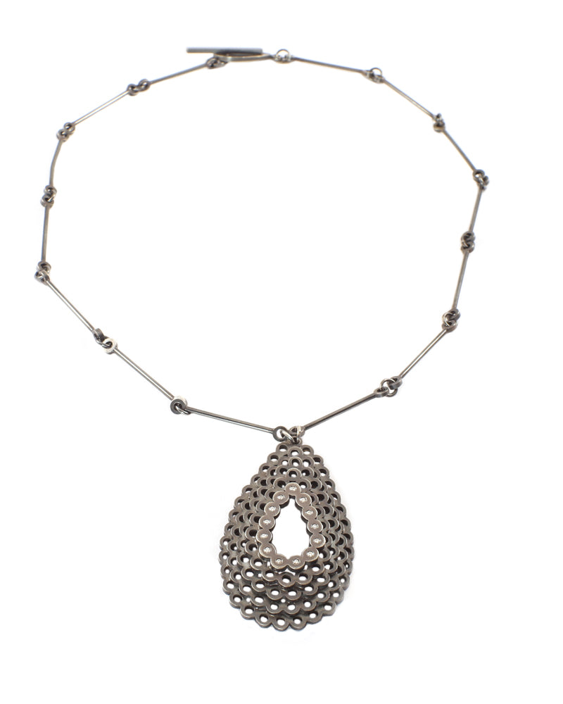Stacked Teardrop And Diamond Necklace