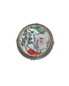 Boy and Bird Pin