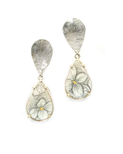 Double Drop Hydrangea Earrings