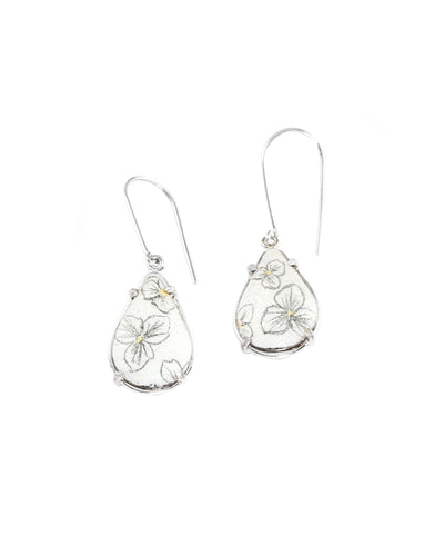 Trillium Small Teardrop Dangle Earrings