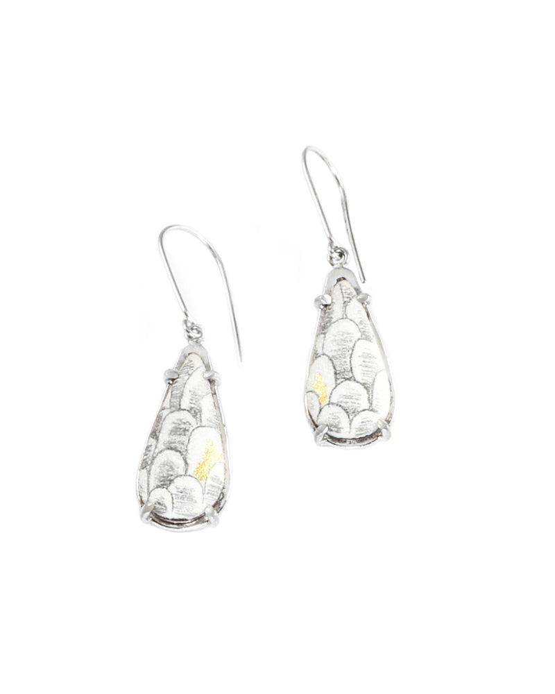 Scale Elongated Teardrop Earrings