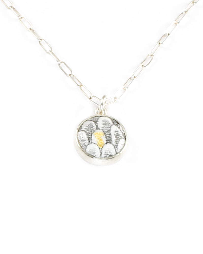 Scale Circle Charm Necklace