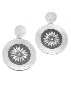 Framed Flower Earrings
