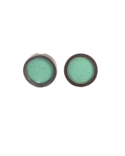 Aqua Circle Earrings