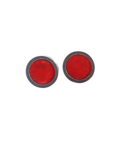Circle Stud In Red Earring