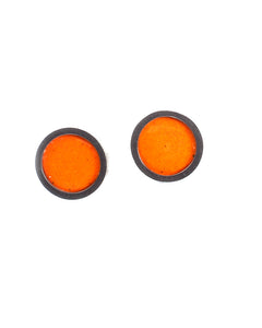 Circle Stud Orange Earring