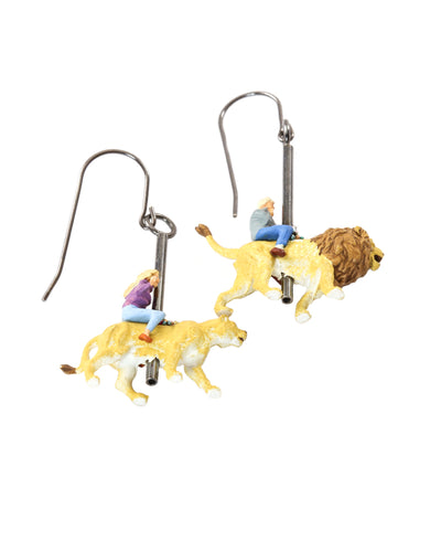 Carousel Lions Earrings