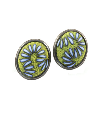 Blue Green Earrings