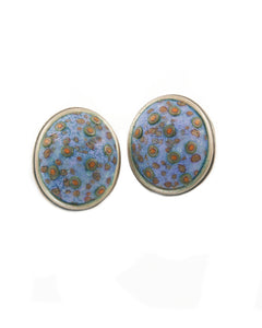 Button Earrings #196