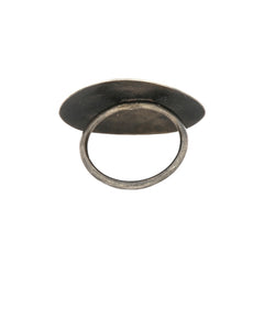 Raised Cross Hatched Ring