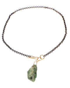 Emerald Necklace With Raw Emerald