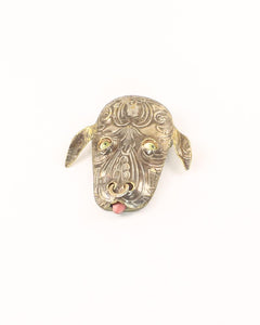 Bull - Animal Mask Brooch