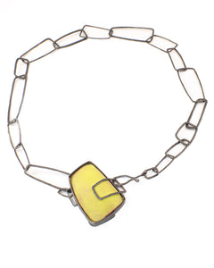 Lemon Rectangle Necklace