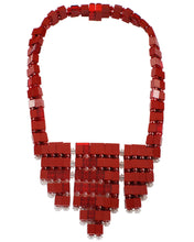 Load image into Gallery viewer, Garnet Moon Bib2 Necklace