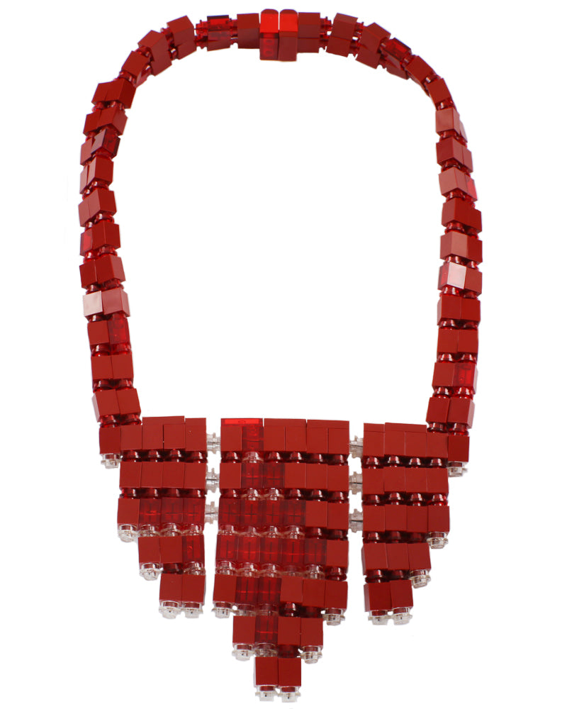 Garnet Moon Bib2 Necklace