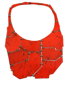 Medium Etched Bib Necklace