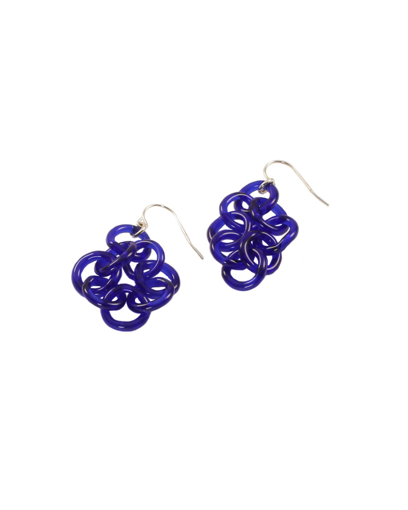 Blue Borosilicate Earrings