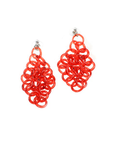 Red Glass Earrings #2
