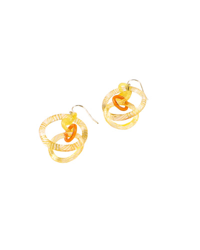 Yellow Circle Earrings #3