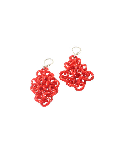 Red Glass Earrings #1