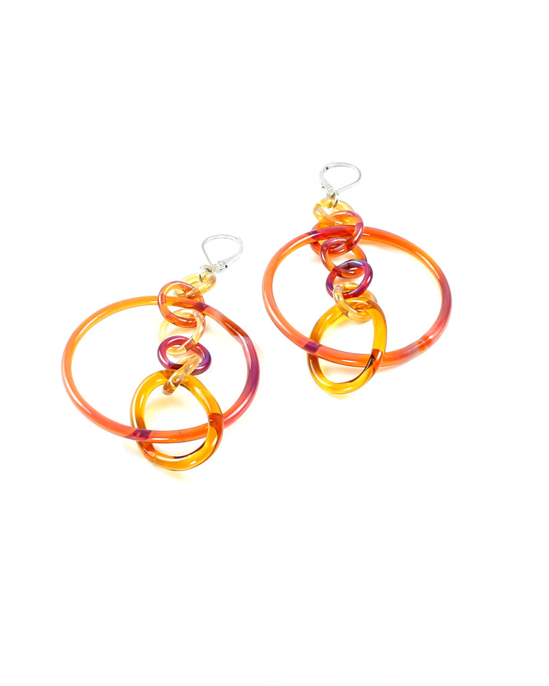 Violet and Amber Hoops