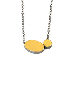 Oval And Dot Necklace