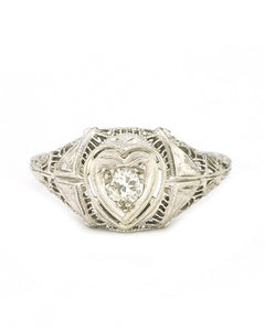 Heart Filigree Ring