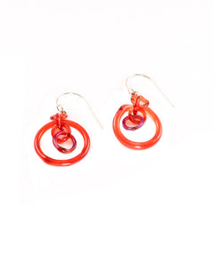 Red Link Earrings #2