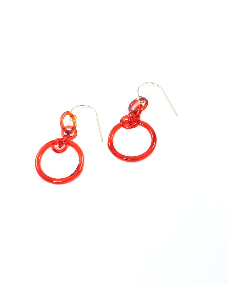 Red Link Earrings #1