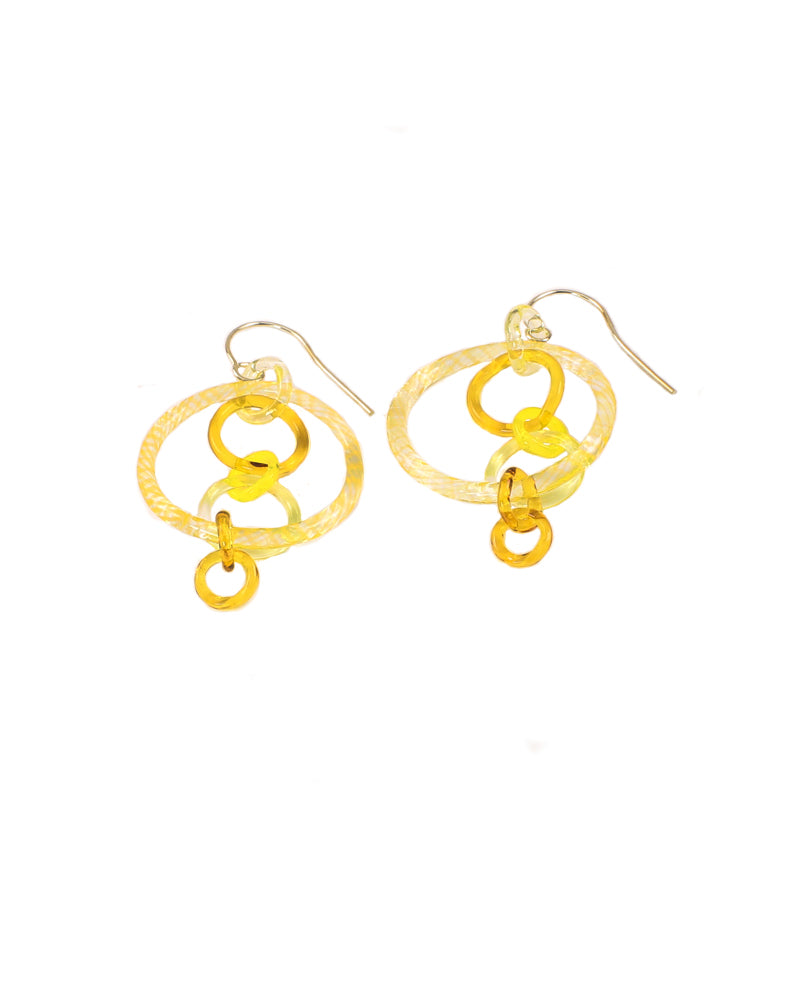 Yellow Link Earrings #2