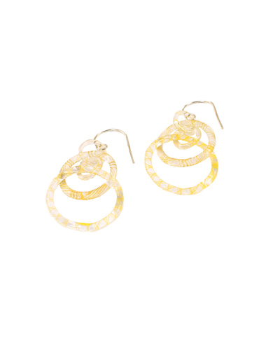 Yellow Link Earrings #1
